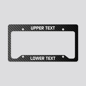 Custom Carbon Fiber License Plate Holder