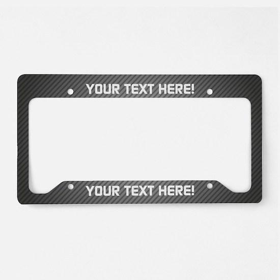 Custom Carbon License Plate Holder