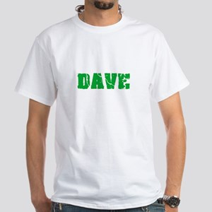 Dave Name Weathered Green Design T-Shirt