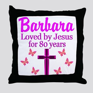 LOVELY 80TH Throw Pillow