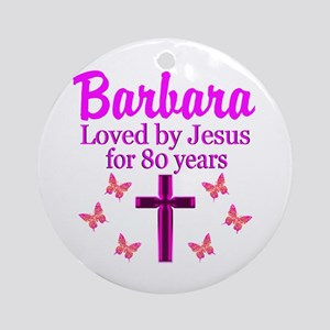LOVELY 80TH Ornament (Round)
