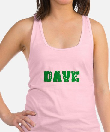 Dave Name Weathered Green Design Tank Top