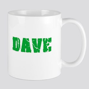 Dave Name Weathered Green Design Mugs