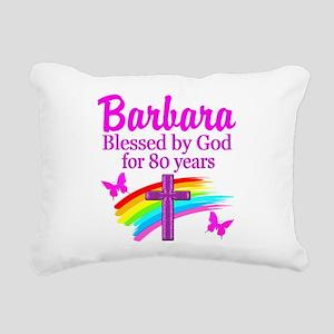 LOVELY 80TH Rectangular Canvas Pillow