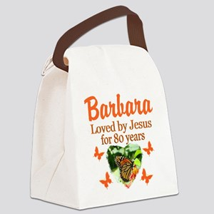 LOVELY 80TH Canvas Lunch Bag