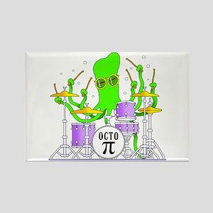 Drumming Octopus Rectangle Magnet