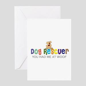 Dog Rescuer Greeting Card