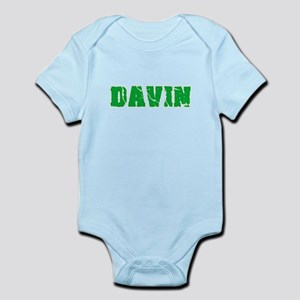 Davin Name Weathered Green Design Body Suit