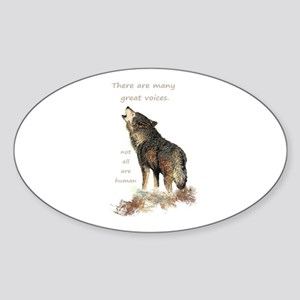 Many Great Voices Inspirational Wolf Quote Sticker