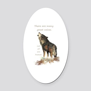Many Great Voices Inspirational Oval Car Magnet