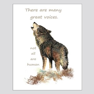 Many Great Voices Inspirational Wolf Quote Small P