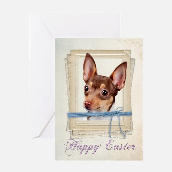 Toy Fox Terrier Easter Greeting Cards