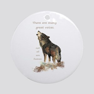 Many Great Voices Inspirational Ornament (round)