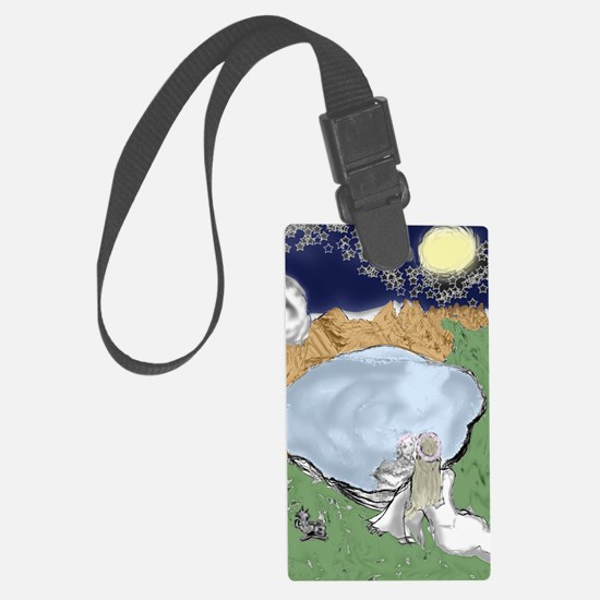 Scrying in Uncertainty Luggage Tag