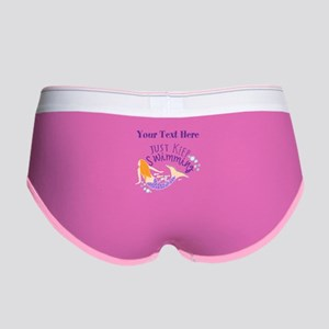 Just Keep Swimming Mermaid Women's Boy Brief