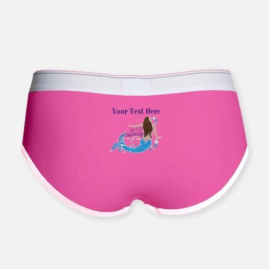 Just Keep Swimming Mermaid Women's Boy Brief