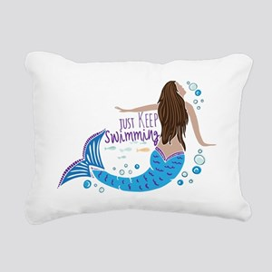 Just Keep Swimming Mermaid Rectangular Canvas Pill