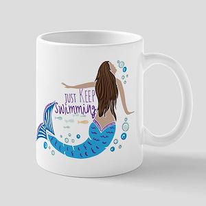 Just Keep Swimming Mermaid Mugs