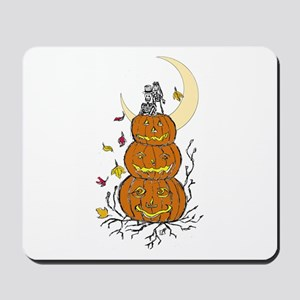 Halloween and Love Mousepad
