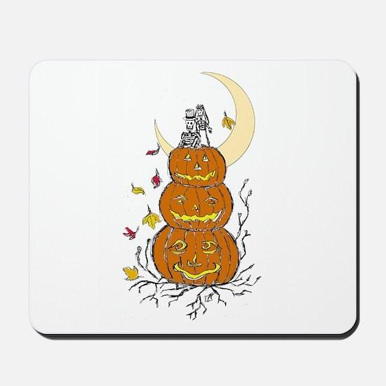 Halloween and Love Mousepad
