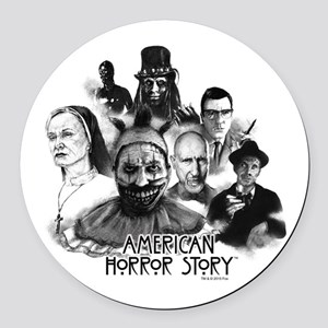 American Horror Story Characters Round Car Magnet