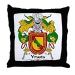 Yrusta Family Crest Throw Pillow