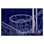 Xcelerator Blueprint At Knott's Berry Large Po