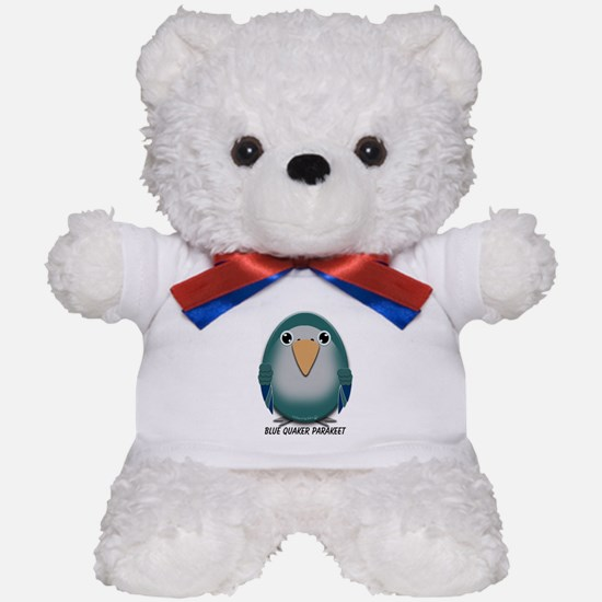 Blue Quaker (Monk) Parakeet Teddy Bear