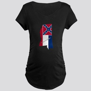 Mississippi State and Flag Maternity T-Shirt