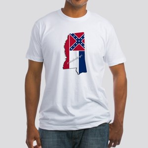 Mississippi State and Flag T-Shirt