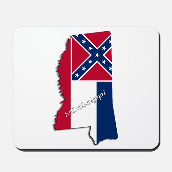 Mississippi State and Flag Mousepad