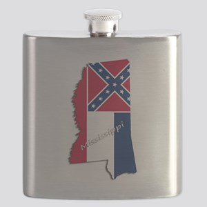 Mississippi State and Flag Flask