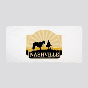 Nashville Tv Beach Towel