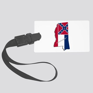 Mississippi State and Flag Large Luggage Tag