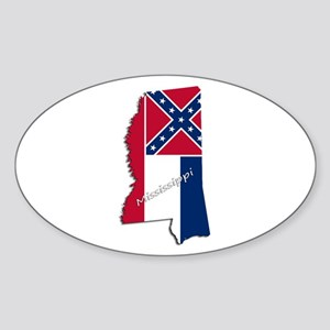 Mississippi State and Flag Sticker