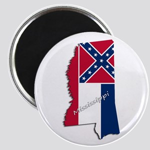 Mississippi State and Flag Magnets