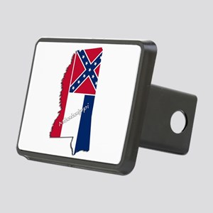 Mississippi State and Flag Rectangular Hitch Cover