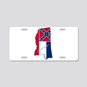 Mississippi State and Flag Aluminum License Plate