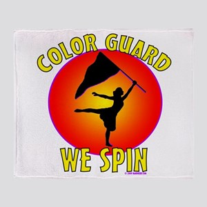 Color Guard - We Spin Throw Blanket