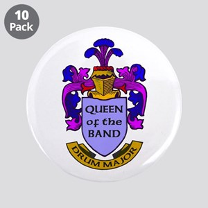 """Drum Major - Queen of the Ba 3.5"""" Button (10 pack)"""