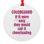 Colorguard Pride Round Ornament