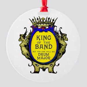 Drum Major: King Of The Band Round Ornament