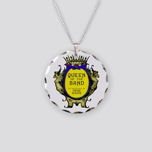 Drum Major: Queen of the Ban Necklace Circle Charm