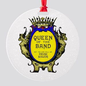 Drum Major: Queen of the Band Round Ornament