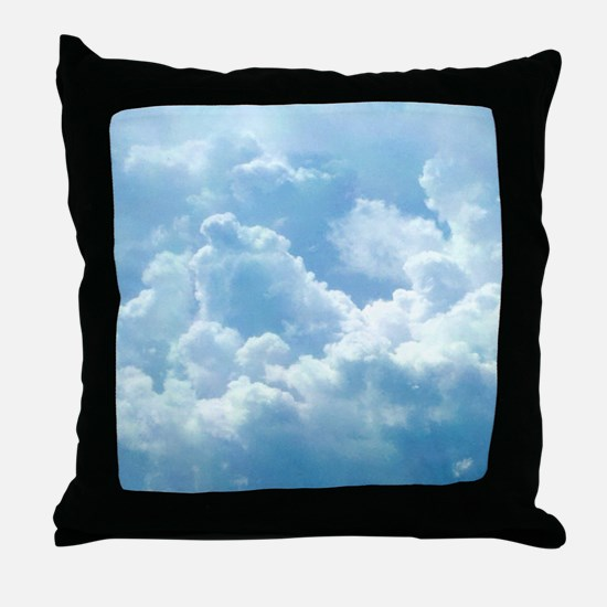 Puffy Clouds Throw Pillow