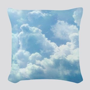 Puffy Clouds Woven Throw Pillow