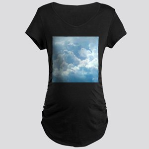 Puffy Clouds Maternity T-Shirt