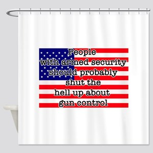 Armed security Shower Curtain