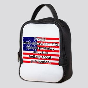 Armed security Neoprene Lunch Bag