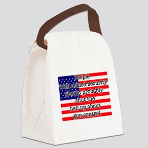 Armed security Canvas Lunch Bag